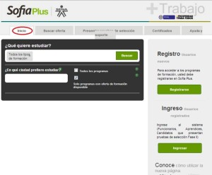 www.senasofiaplus. Pagina inicio